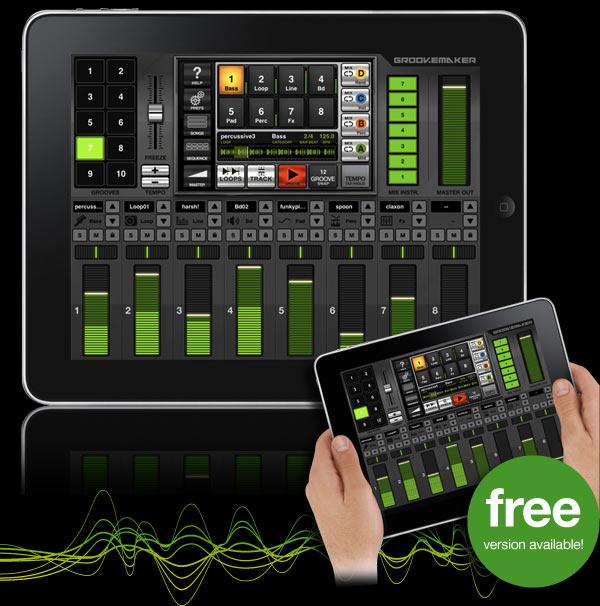 Groovemaker para ipad - Table de mixage virtuel gratuit en francais ...